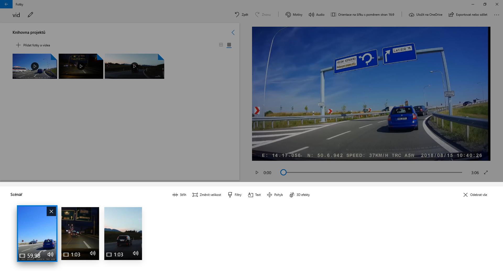 Spojení několika záznamů z autokamery do jednoho video souboru - obrázek 3