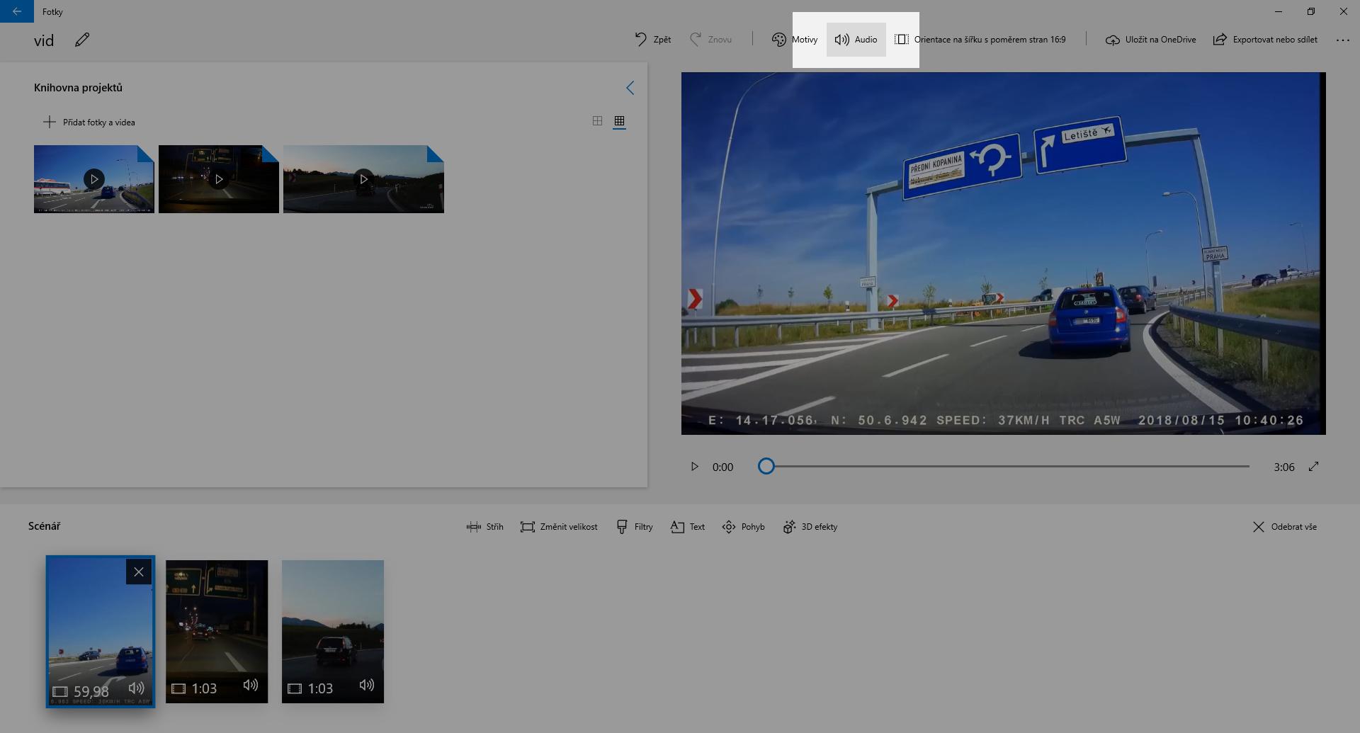 Spojení několika záznamů z autokamery do jednoho video souboru - obrázek 4