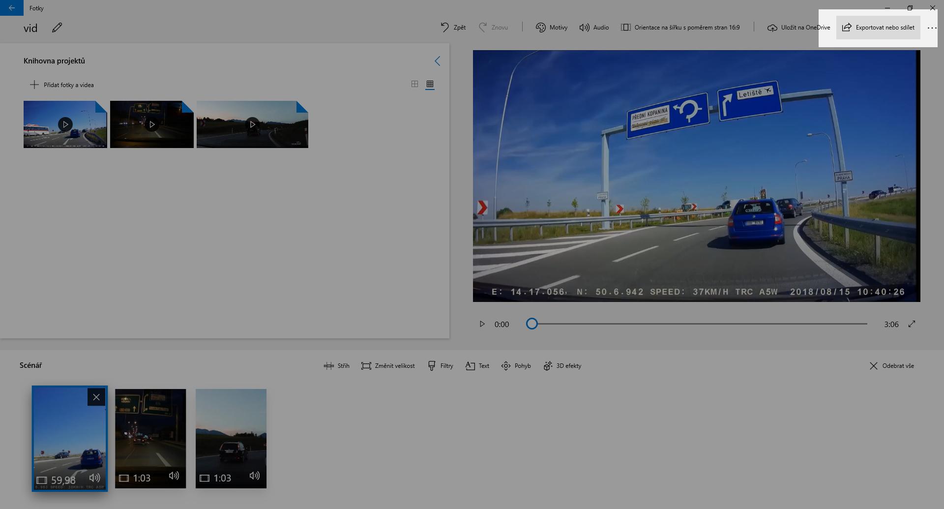 Spojení několika záznamů z autokamery do jednoho video souboru - obrázek 5