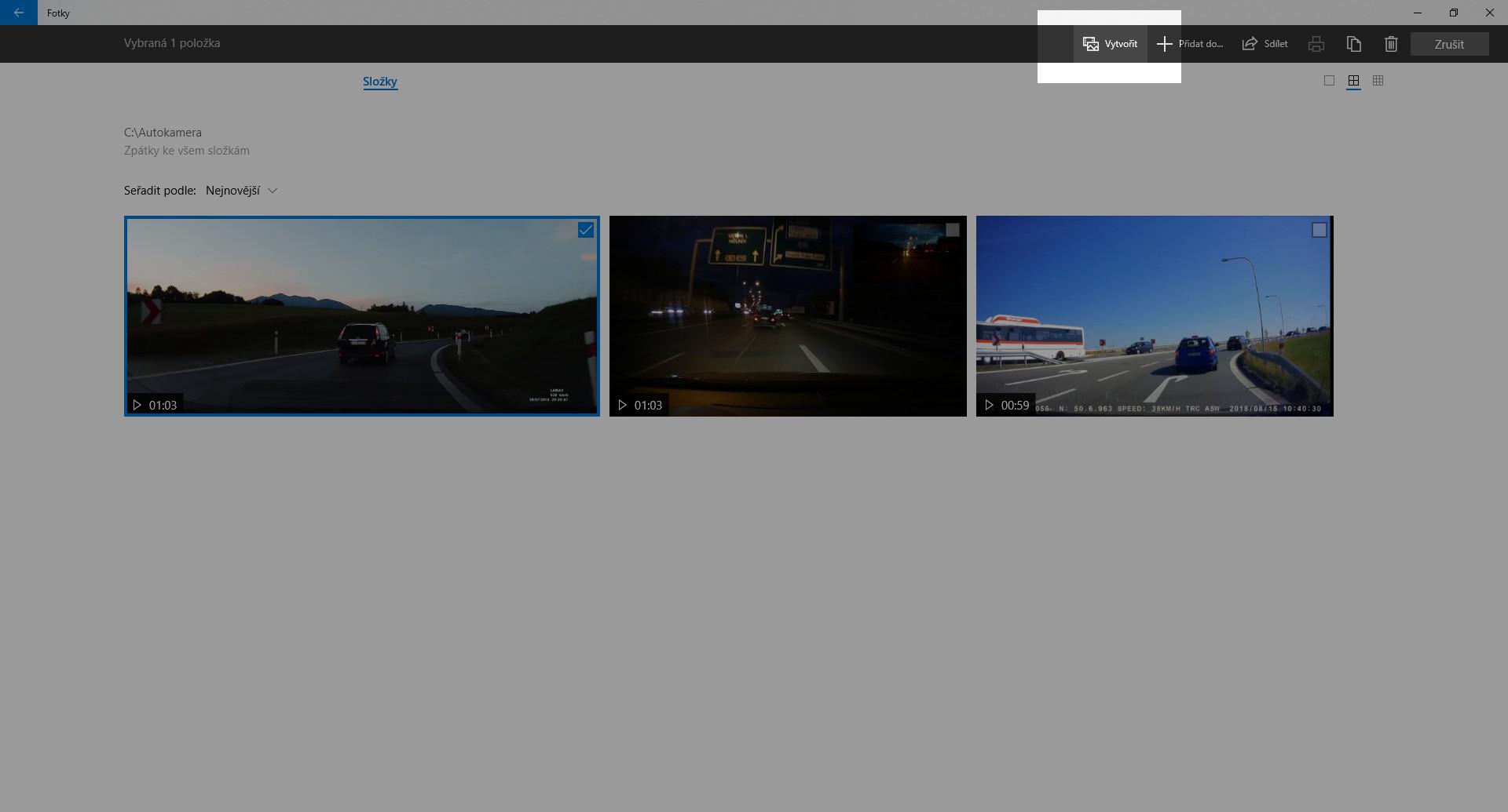 Jak sestříhat video z kamery do auta - obrázek 1